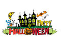 Happy halloween theme and halloween background images of Royalty Free Stock Image