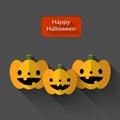 Happy Halloween Trio Pumpkins ...
