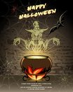 Happy Halloween vector card design Royalty Free Stock Photo