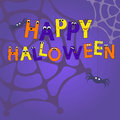 Happy halloween vector card this is file of eps format Stock Image