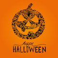 Happy halloween vector jack o lantern seasonal elements for design vector illustration Stock Images