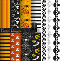 Happy Halloween vector paper and lace for scrapbook Royalty Free Stock Photo