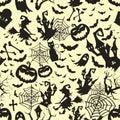 Happy Halloween witch Pumpkin Background Vector pattern and texture. Halloween Flat Design.