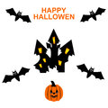 Happy hallowen card halloween spiderweb background Stock Photography