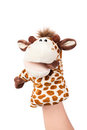 Happy hand puppet Royalty Free Stock Images