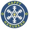 Happy Hanukkah Badge