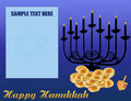 Happy Hanukkah/Chanukah Background Stock Photography
