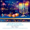 Happy Hanukkah greeting card, menorah, chanuka, dreidel, hanuka background Royalty Free Stock Photo