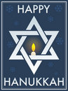 Happy Hanukkah Star Of David Royalty Free Stock Photo