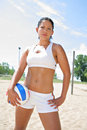 Happy Healthy Beach Volleyball Player Royalty Free Stock Photo
