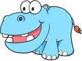 Happy hippopotamus Vector Royalty Free Stock Photo