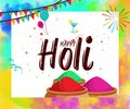 Happy Holi Celebration Poster Or Banner Background