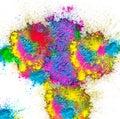 HAPPY HOLI, HOLI SPLASH holi celebration colourful india illustration Royalty Free Stock Photo