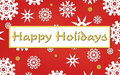 Happy Holiday Card Royalty Free Stock Images