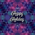 Happy holiday poster vector illustration Royalty Free Stock Image