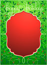 Happy holidays background in green and red vector illustration of color eps format Stock Photo
