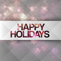 Happy holidays background with mosaic texture Royalty Free Stock Photos