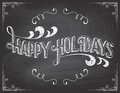 Happy Holidays chalkboard Royalty Free Stock Photo