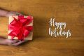 Happy holidays cheerful greeting good Happy greeting card Celeb Royalty Free Stock Photo