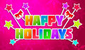 Happy Holidays Greeting Art Pa...