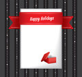 Happy Holidays greeting card Royalty Free Stock Photography