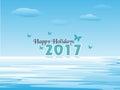 Happy Holidays 2017 Royalty Free Stock Photo