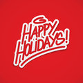 Happy holidays label lettering postcard Stock Photography