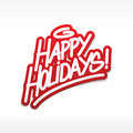 Happy holidays label lettering postcard Royalty Free Stock Photography