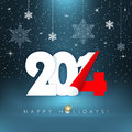 Happy holidays new year background with snowflakes season greetings concept illustration Stock Photography