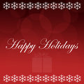 Happy Holidays Red Background