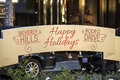 Happy Holidays Sign on Rodeo Drive in Beverly Hills, California Royalty Free Stock Photo