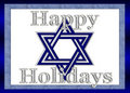 Happy Holidays Star of David Background Royalty Free Stock Images