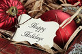 Happy Holidays Tag And Christm...