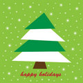 Happy Holidays Tree Royalty Free Stock Photo