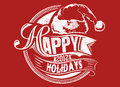 Happy holidays vector illustration ideal for printing on apparel clothes Stock Image