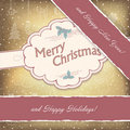 Happy Holidays Vintage Background. Royalty Free Stock Photo