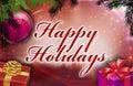 Happy holidays wishes