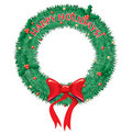 Happy Holidays Wreath Stock Photo