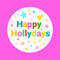 Happy Holydays card. Vector llustration. Royalty Free Stock Photo