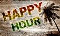 Happy hour beach bar Royalty Free Stock Photo