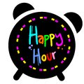 Happy hour creative design of Stock Photography