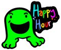 Happy hour creative design of Stock Photos