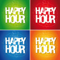 Happy hour sign Stock Image