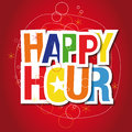 Happy hour sign Stock Photo