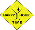 happy hour znak czasu Zdjęcia Royalty Free