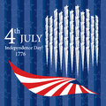 Happy Independence Day 4th of July Royalty Free Stock Photo