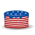 Happy independence day cake vector illustration of s Royalty Free Stock Image