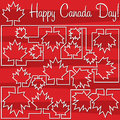 Happy independence day canada card in format Royalty Free Stock Photos