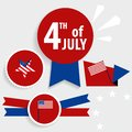 Happy independence day card United States of America. American F Royalty Free Stock Photo