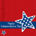 Happy independence day card in vector format Stock Photo
